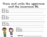 Writing Practice - Letter Bb