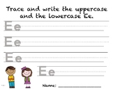 Writing Practice - Letter Ee