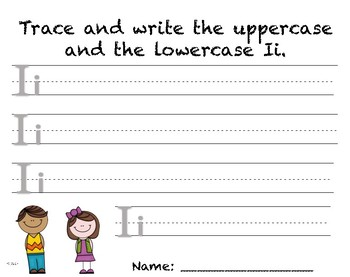 Writing Practice - Letter Ii