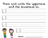 Writing Practice - Letter Ll