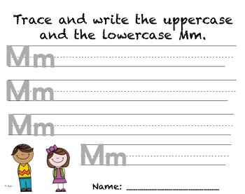 Writing Practice - Letter Mm