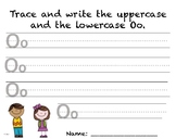 Writing Practice - Letter Oo