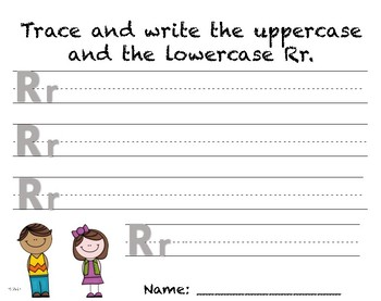 Writing Practice - Letter Rr