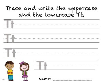 Writing Practice - Letter Tt