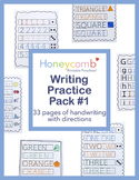 Writing Practice Pack #1 for Preschool, PreK & Kindergarten