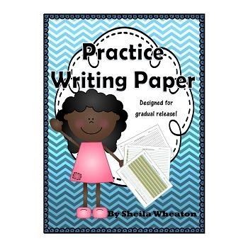 Writing Practice Paper - Colored Writing Paper for Gradual Release