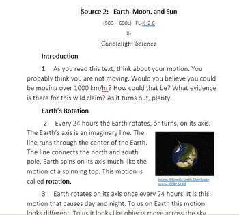 Writing Practice Set: Earth and Moon