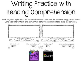 Writing Practice with Reading Comprehension