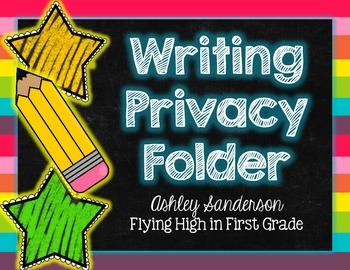 Writing Privacy Folder {writing office}