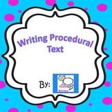 Writing Procedural Text