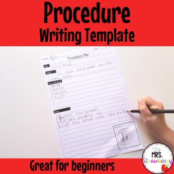 Writing Procedures Writing Template