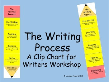 Writing Process - A Clip Chart for Writers Workshop