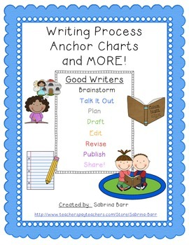 Writing Process Anchor Charts Scrappindoodle Version