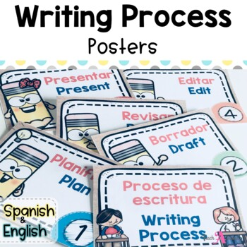 Writing Process Posters for Effective Writers Workshop (Bilingual)
