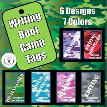 Writing Process Boot Camp Brag Tags