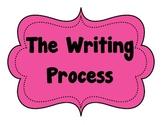 Writing Process Bulletin Board Posters