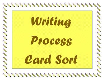 Writing Process Card Sort
