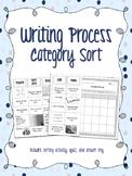 Writing Process Category Sort