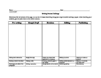 Writing Process Challenge