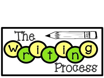 Writing Process Chart (Green and Yellow)