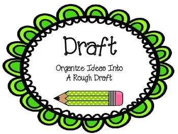 Writing Process Chart- Pencil Theme