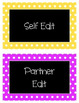 Writing Process Chart (Polka Dot Themed)