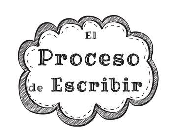 Writing Process Chart (Spanish)