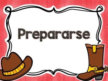 Writing Process Chart *Spanish Version - Cowboy Theme*