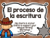 Writing Process Chart *Spanish Version - Cowboy Theme*