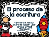 Writing Process Chart *Spanish Version - Space Theme*