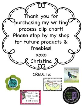 Writing Process Chart [chevron}