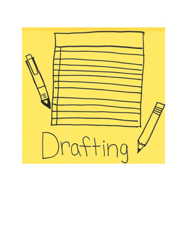 Writing Process Chart with Hand-Drawn Graphics