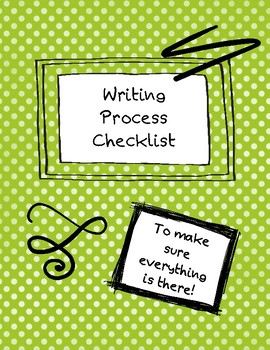 Writing Process Checklist