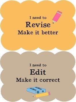 Writing Process Classroom Chart