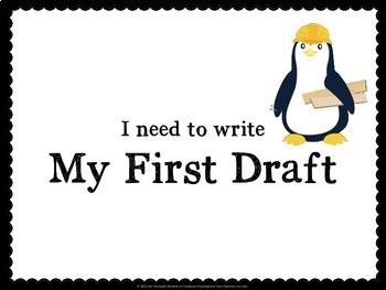 Writing Process Classroom Chart - Penguins