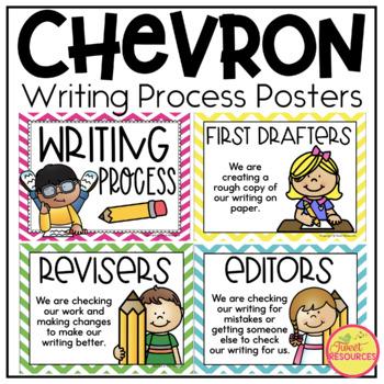 Writing Process Clip Chart {Chevron Classroom Decor Theme}