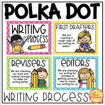 Writing Process Clip Chart {Polka Dot Classroom Decor Theme}