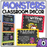 Writing Process Clip Chart in a Monsters Classroom Decor Theme