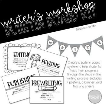 Writing Process Bulletin Board Posters Bundle 1