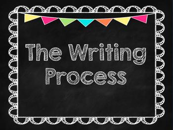 Writing Process Clip Chart Chalkboard