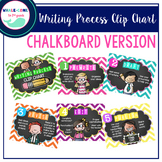 Writing Process Clip Chart: Chalkboard & Chevron