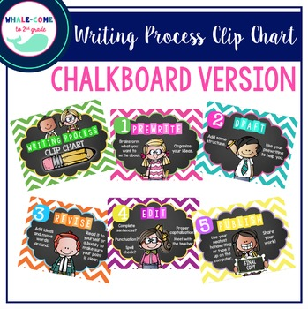 Writing Process Clip Chart: Chalkboard & Chevron