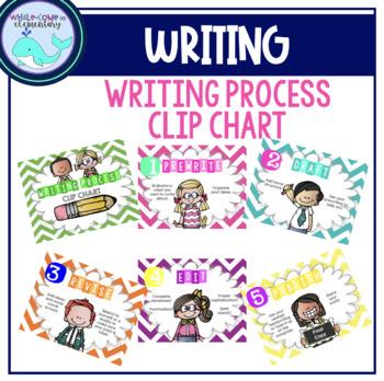 Writing Process Clip Chart (Chevron)
