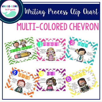 Writing Process Clip Chart (Chevron)