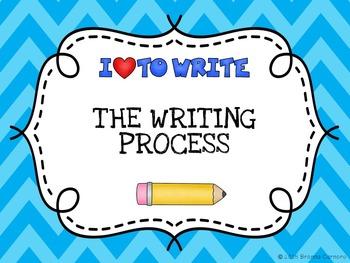 Writing Process Clip Chart- Chevron