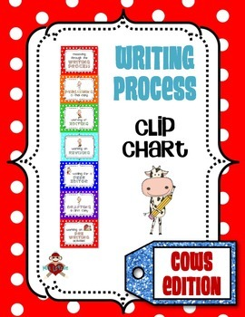Writing Process Clip Chart - Cows