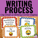 Writing Process Clip Chart Posters - Emoji Theme