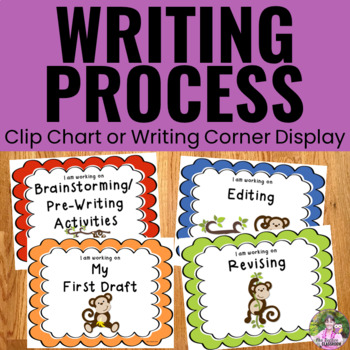 Writing Process Clip Chart - Monkey Theme
