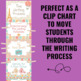 Writing Process Clip Chart - Parisian Theme