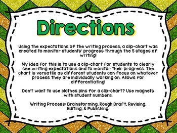 Writing Process Clip-Chart (Pencil Shaped)